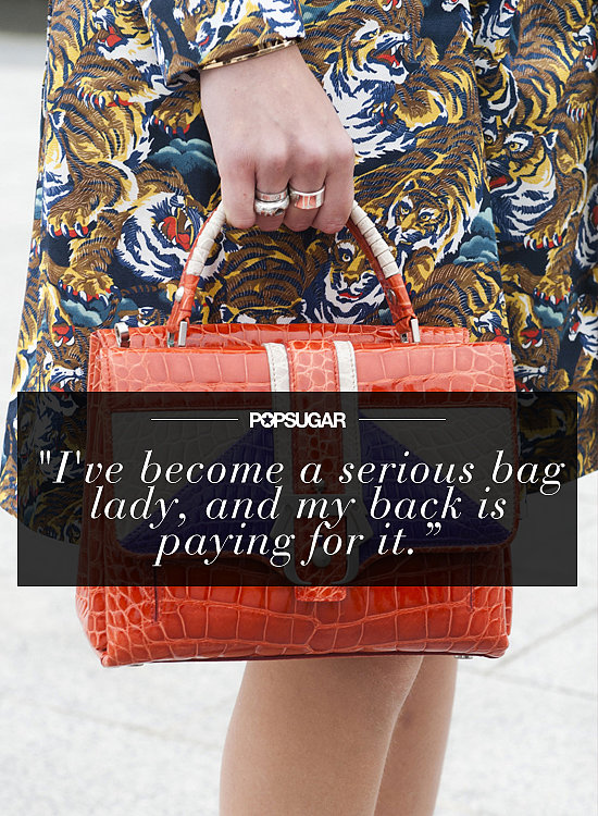 """I've become a serious bag lady, and my back is paying for it. In the name of health, I resolve to ditch the massive totes in favor of quite-literal handbags."" — Kate Schweitzer, editor"