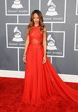 2. Rihanna in Azzedine Alaia at the Grammy Awards