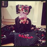 Kelly Osbourne had fun in a pile of ugly Christmas sweaters. Source: Instagram user kellyosbourne