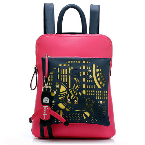 [grxjy520210]Modern Street-chic Pendant British Style Preppy Vintage Smart Embossed Backpack