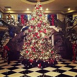 Kim Kardashian woke up to a Winter wonderland in her family's home. Source: Instagram user kimkardashian
