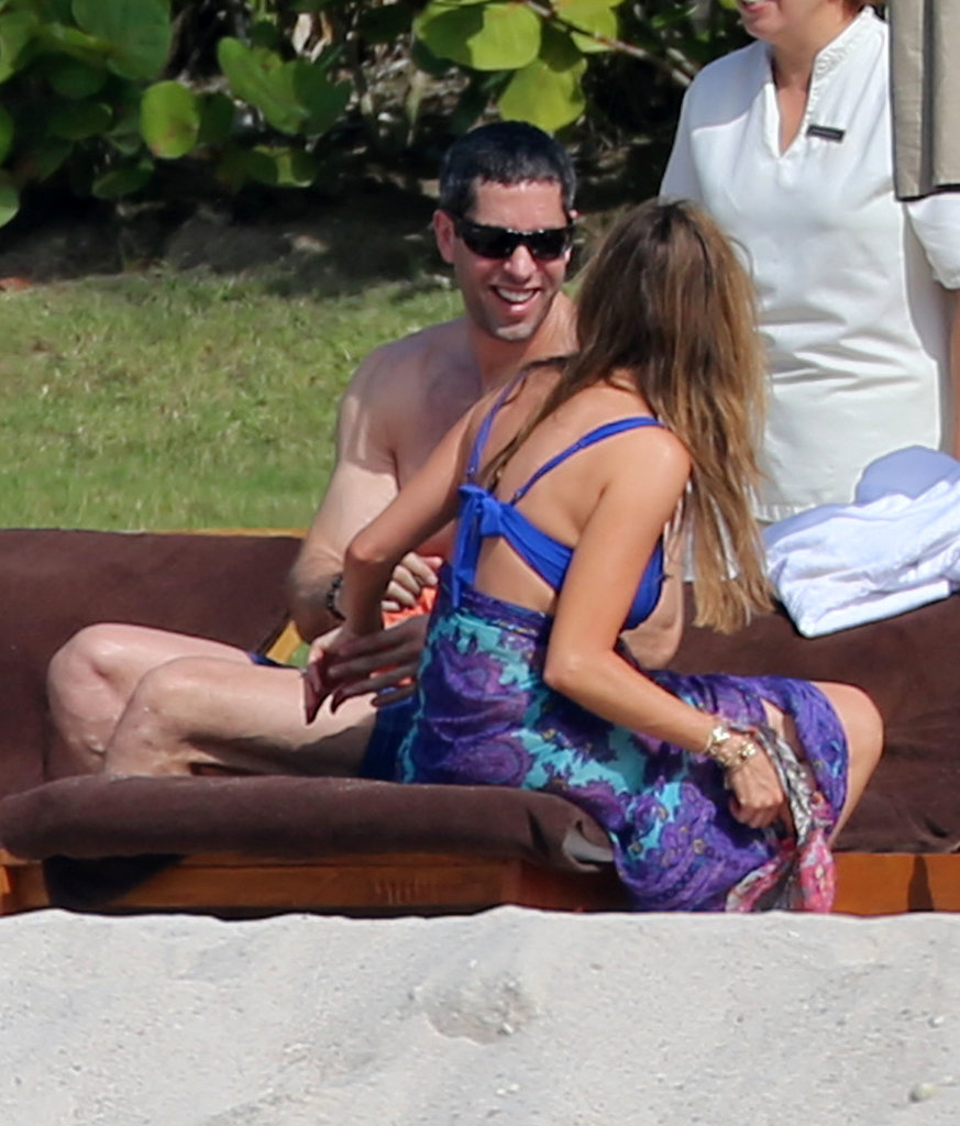 Sofia Vergara and her fiancé, Nick Loeb, lounged in Puerto Vallarta, Mexico, on Monday.