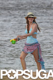 Isla Fisher hit the beach in Hawaii.