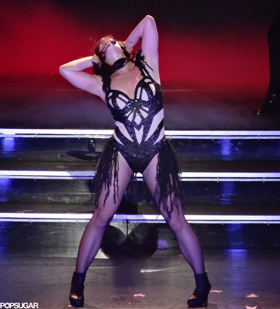 Britney Spears made a stretch look like an alluring dance move.