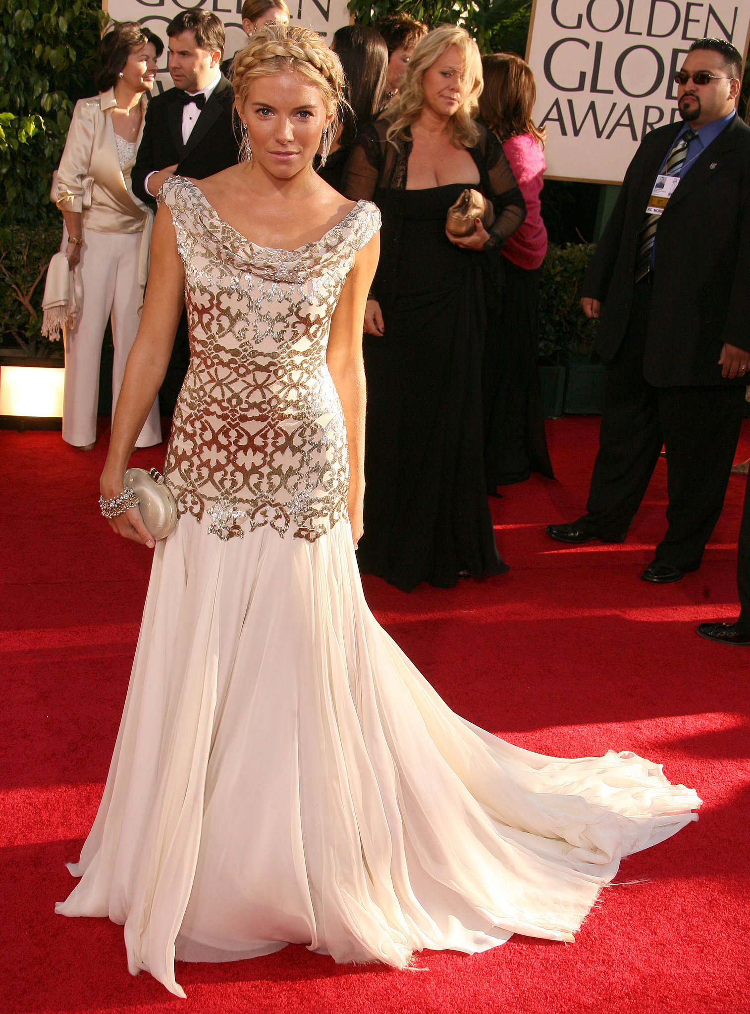 She had a princess moment at the 2007 Golden Globe Awards.