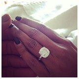 Gabrielle Union took to Instagram to show off the massive rock fiancé Dwyane Wade gave her to seal the deal. The actress gave us another close-up of her engagement ring when she cheered for Dwyane at the Lakers game in LA on Christmas Day.  Source: Instagram user gabunion