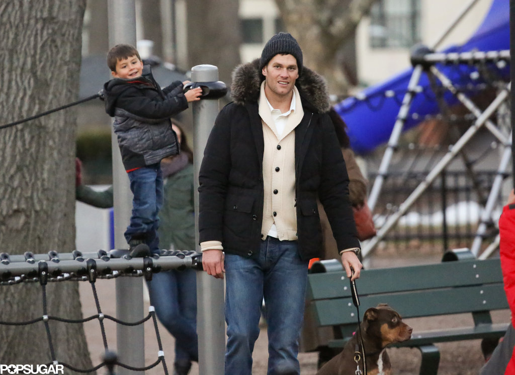 Tom Brady had a fun-filled Saturday at a Boston park with his son, Benjamin.