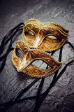 Masks for the bride and groom are a must. Photo by Avery House via Style Me Pretty