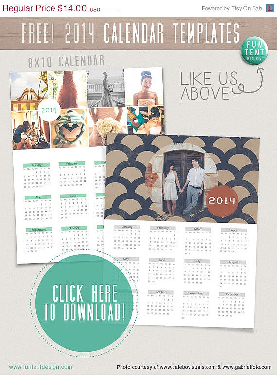 Customizable 2014 Calendar Template