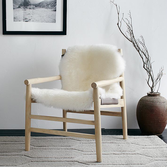 Snagging effortless, Scandi-inspired style is pretty much in the bag, thanks to this Leather and Fur Sling Chair ($1,099). From the midcentury-inspired frame to the sumptuous leather seat and ivory sheepskin throw, this chair delivers comfort and style. — Angela Elias, associate editor