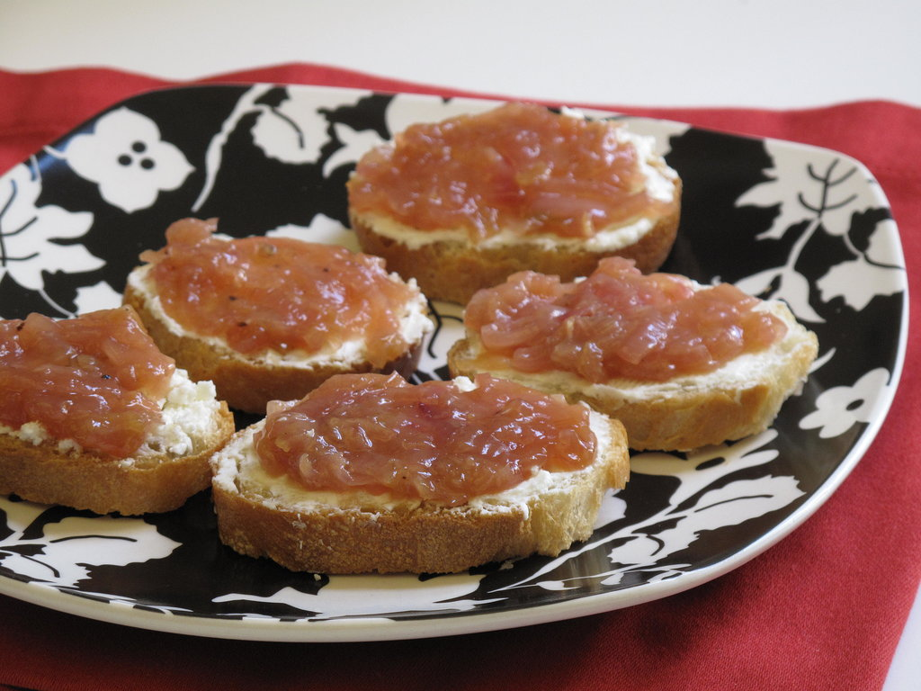 Onion Jam and Goat Cheese Toasts