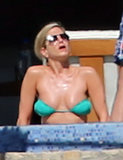Jennifer Aniston soaked up more warmth in the sun.