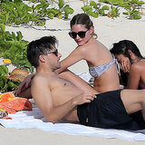 Olivia Palermo In Bikini On Beach With Johannes Huebl
