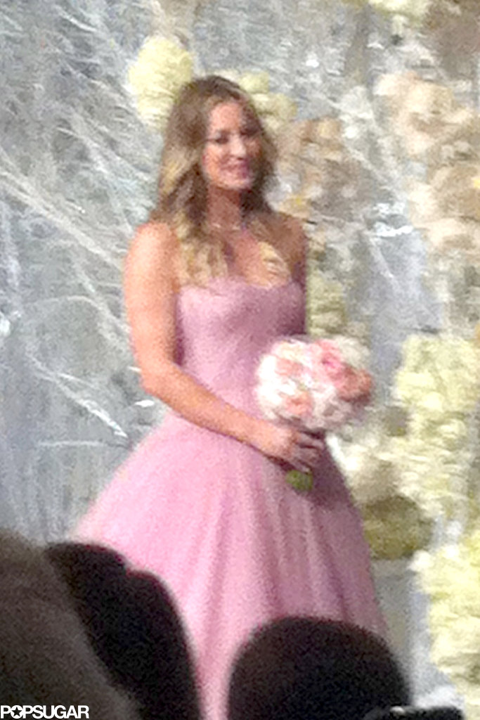 Kaley was all smiles at her wedding.