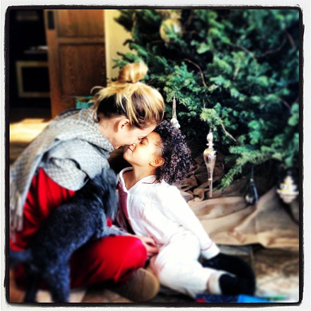 Ellen Pompeo and Stella Luna shared a sweet moment after Christmas. Source: Instagram user ellenpompeo