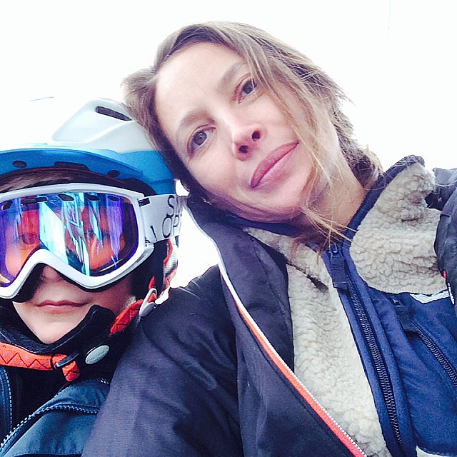 Christy Turlington and Finn Burns had a ski date in Utah. Source: Instagram user cturlington