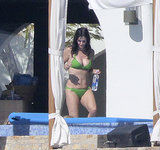 Courteney wore her bikini during a relaxing day in Cabo in January 2014.