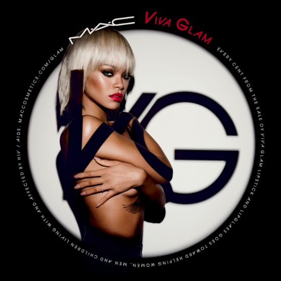 Rihanna Blonde & Topless For Mac Cosmetics Viva Glam Ad