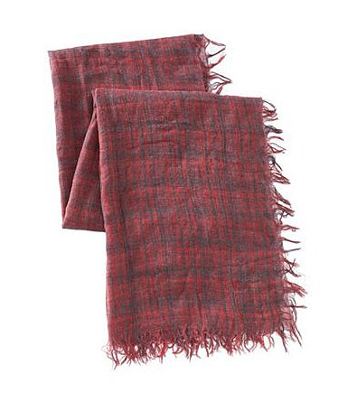 Lauren Ralph Lauren Light Red Plaid Scarf