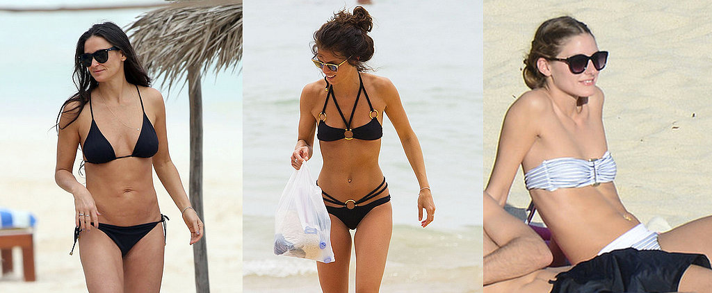 Celebrities Hit the Beach in Sexy Bikinis!