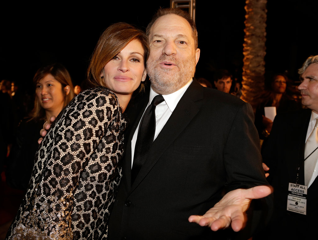 Julia Roberts buddied up with Harvey Weinstein.