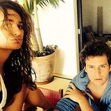 "Lea said she and Jonathan were taking ""serious selfies"" on vacation.  Source: Instagram user msleamichele"