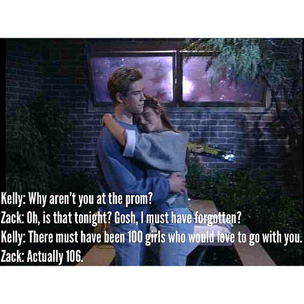 Gotta love Saved by the Bell.