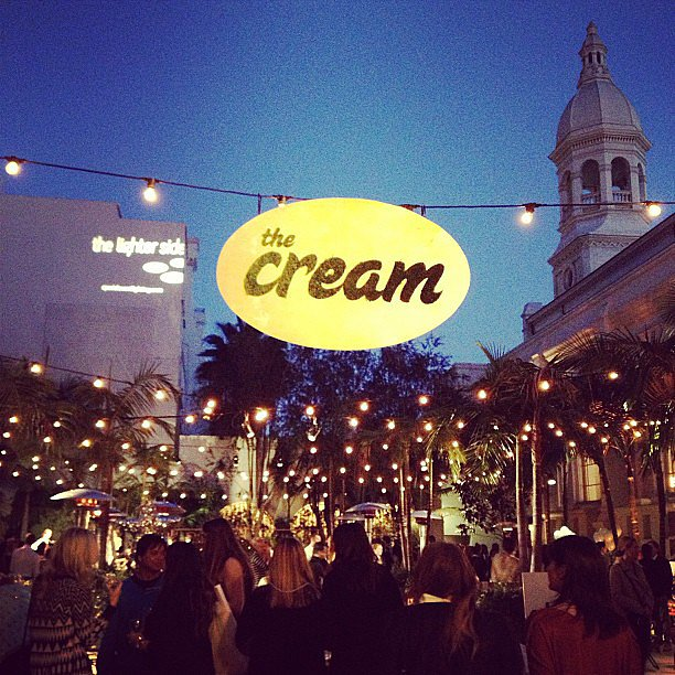 So gorgeous outside at The Cream, which took place at Vibiana in LA.