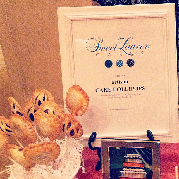 From Sweet Lauren Cake at The One: pie pops are the new cake pops.