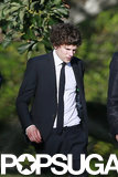 Jesse Eisenberg wore a suit to the wedding.