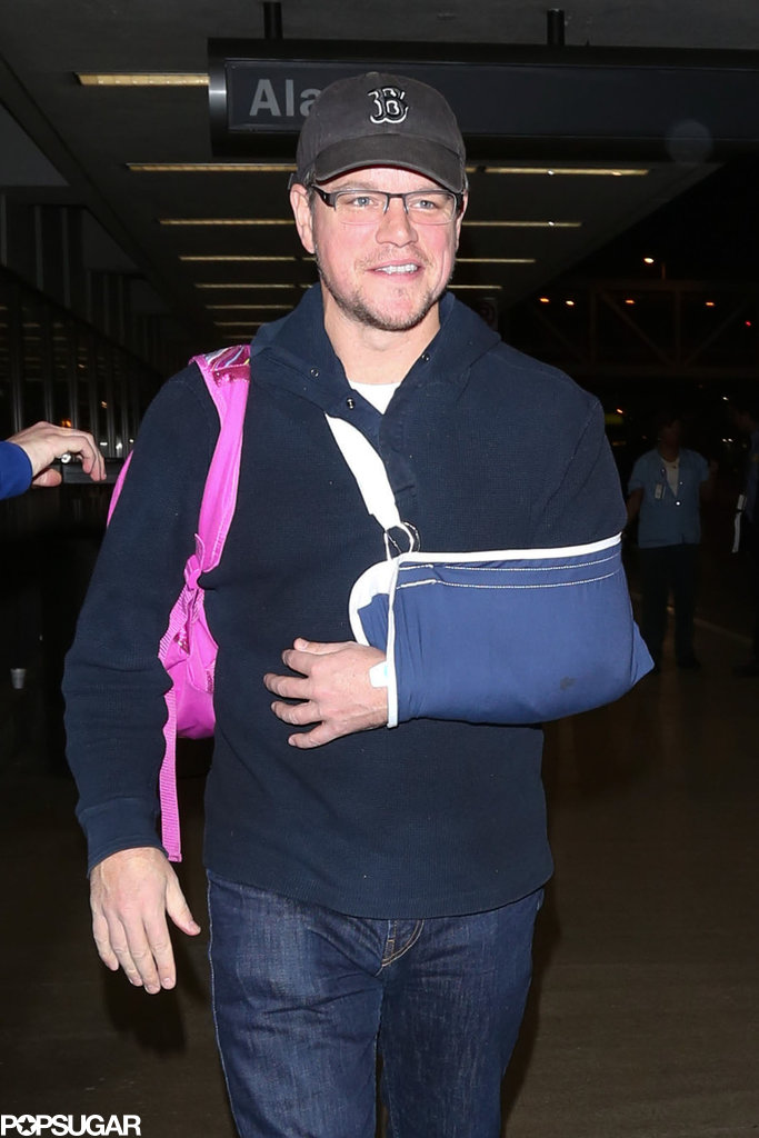 Matt walked through LAX with a smile.
