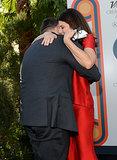 Jonah gave Marisa a big hug.
