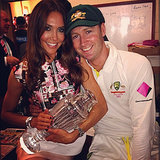 "Kyly and Michael Clarke cradled their ""new baby."" Source: Instagram user kylyclarke"