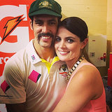 Jessica Bratich cuddled up to her main man Mitchell Johnson. Source: Instagram user jessicabratich