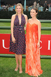 Ivanka Trump and Georgina Bloomberg at the Trump Invitational Grand Prix.