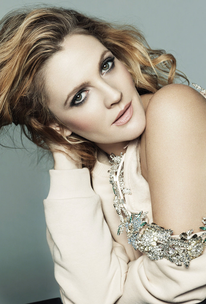 Drew Barrymore worked her stuff in Marie Claire.