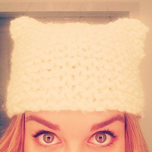 Not only was Lauren Conrad's kitten hat adorable, but it was also homemade by the style star. Source: Instagram user laurenconrad