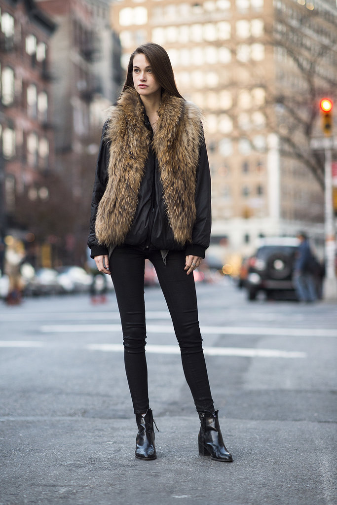 This furry vest is as cozy as it is cool.  Source: Le 21ème | Adam Katz Sinding