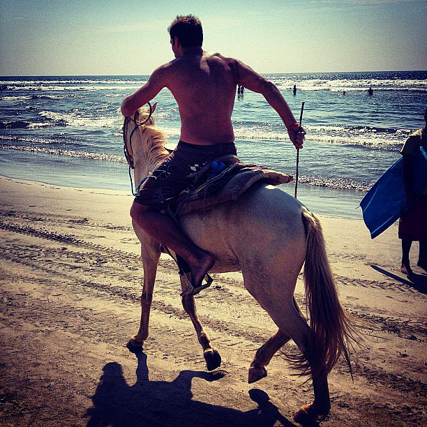 Occasionally, You'll Find Him Shirtless While Riding Horses