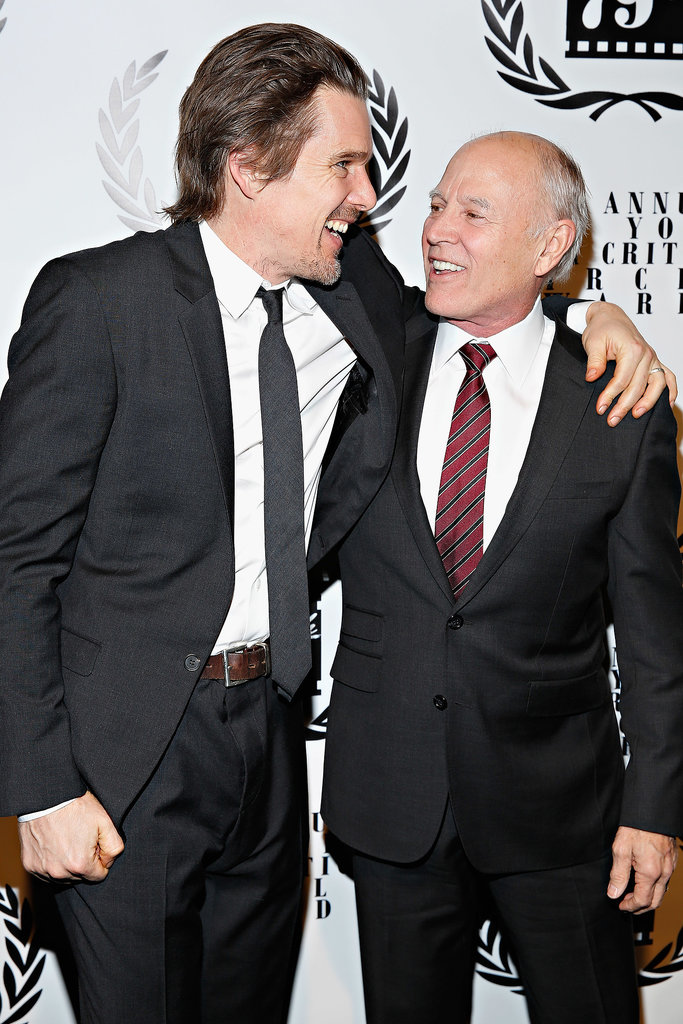 Ethan Hawke hugged producer Frank Marshall.