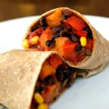 Vegan Sweet Potato and Black Bean Burrito