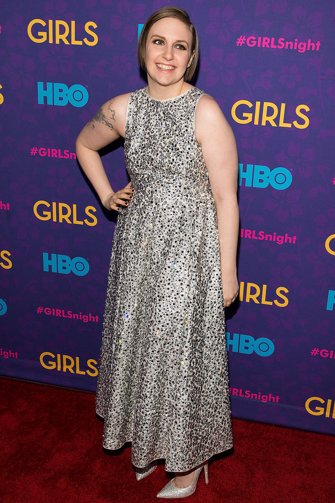Lena glittered on the red carpet.