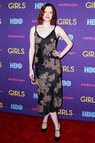 Karen Elson at the Girls premiere.