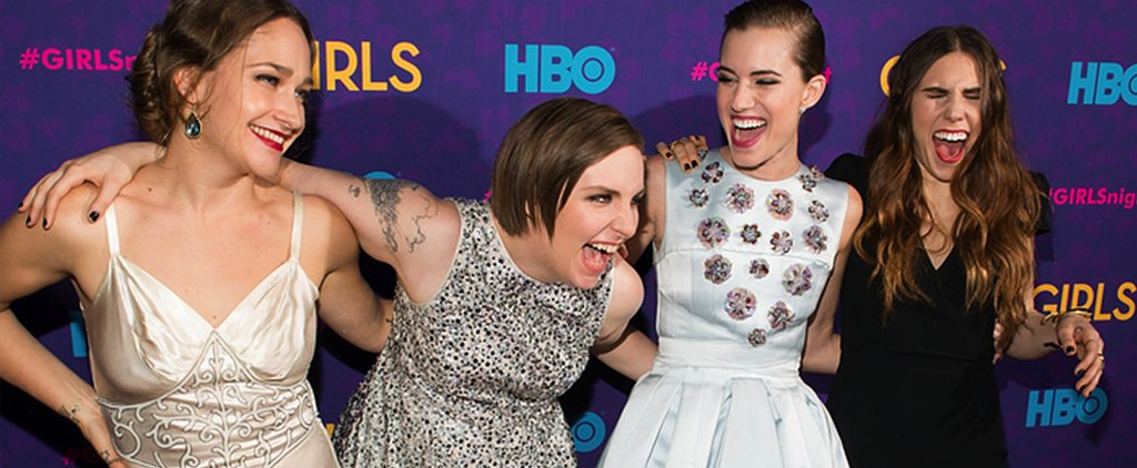 Shocker! Lena Dunham Didn't Choose a Floral Dress . . .