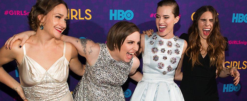Shocker! Lena Dunham Didn't Choose a Floral Dress . . .