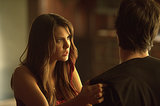Yes, she's totally manhandling Damon.