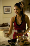 We've only gotten to see Elena the way she was before the chaos in flashbacks, but she looked really content.