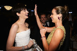 Anne Hathaway and Emily Blunt shared a laugh in 2013.