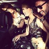 Heidi Klum got glam on the go while heading to the People's Choice Awards. Source: Twitter user heidiklum