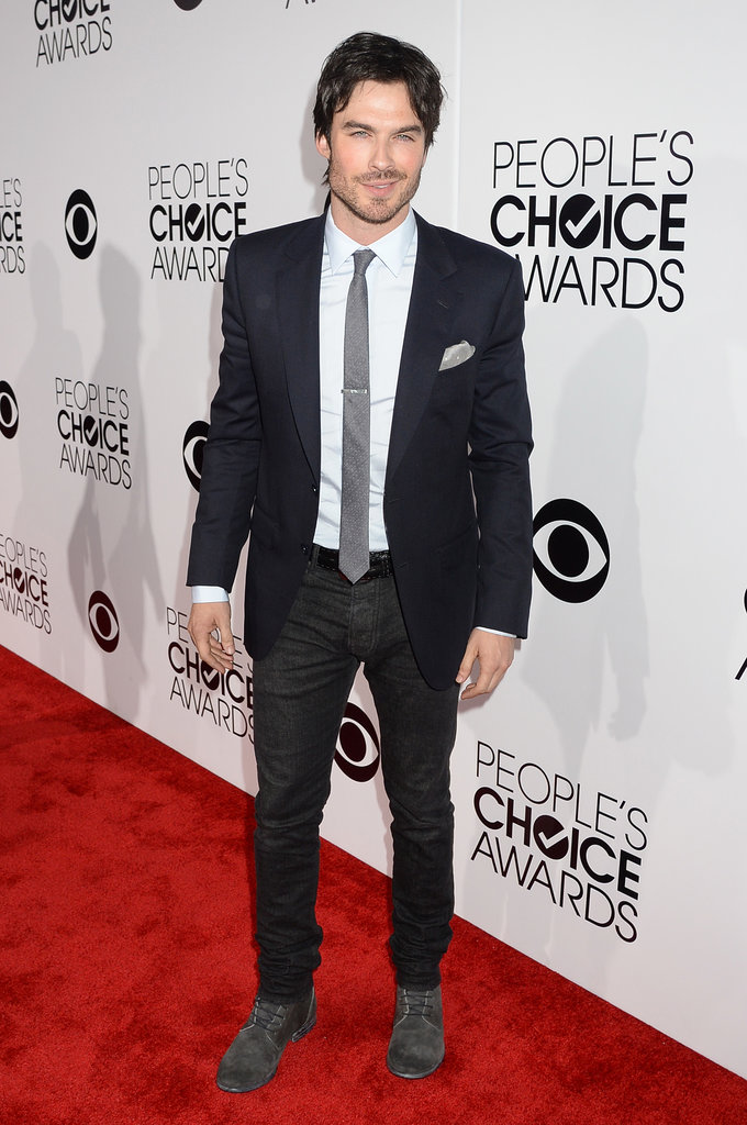 Ian Somerhalder brought his smolder, naturally, to the PCAs red carpet.